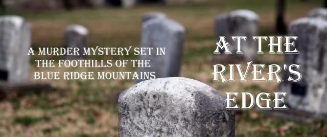 Headsone in Creepy Cemetery with Bridge in background